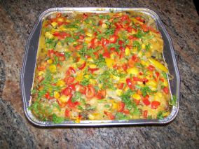 Sausage, Pepper, and Rice Casserole